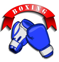 boxing gloves and logo